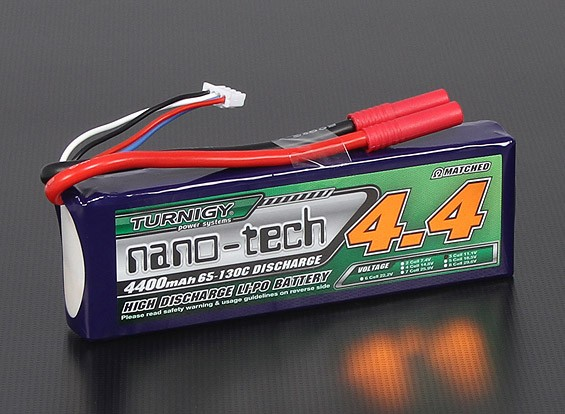 Turnigy nano-tech 4400mAh 3S 65 ~ 130C Pack Lipo