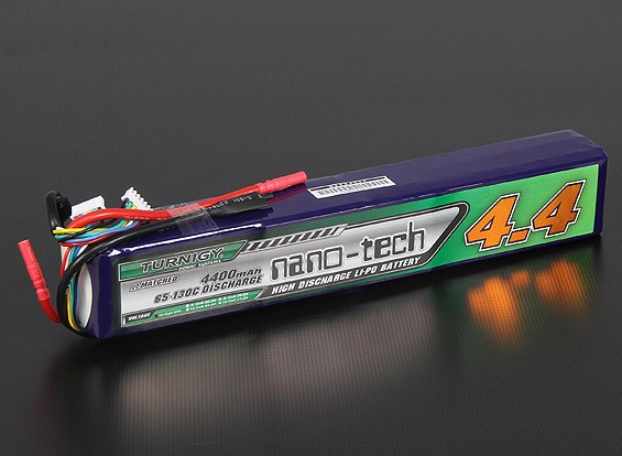 Turnigy nano-tech 4400mAh 10S 65 ~ 130C Pack Lipo