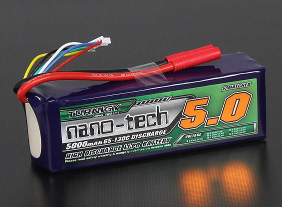 Turnigy nano-tech 5000mAh 5S 65 ~ 130C Pack Lipo