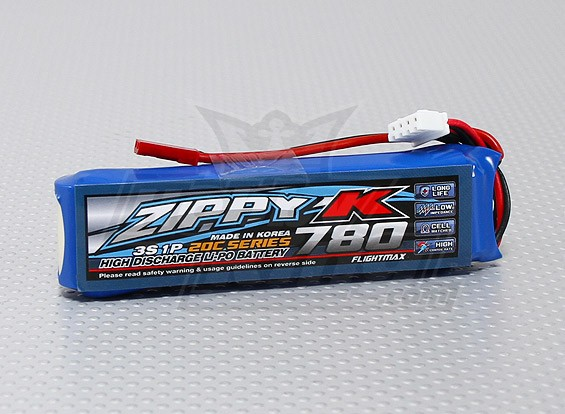 Zippy-K Flightmax 780mAh 3s1p 20C LiPoly Battery
