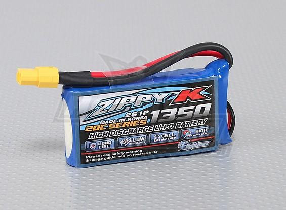 Zippy-K Flightmax 1350mAh 2S1P 20C LiPoly Battery