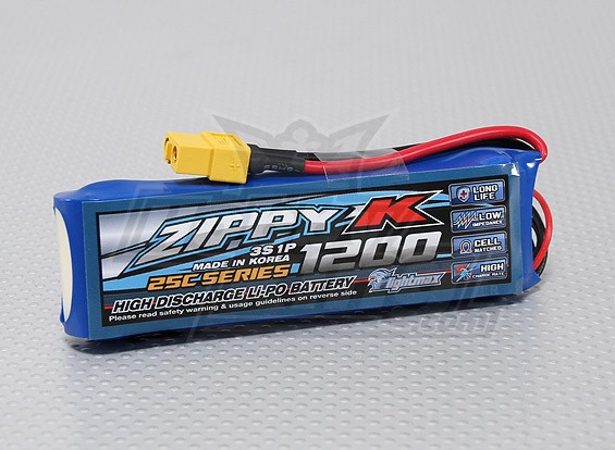 Zippy-K Flightmax 1200mAh 3s1p 25C LiPoly Battery
