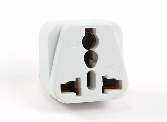 Turnigy WD-5 Fused 13 Amp Netschakelaars Multi Adapter-White (US Plug)