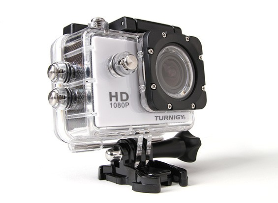 Turnigy HD ActionCam 1080p Full HD-videocamera w / Waterproof Case