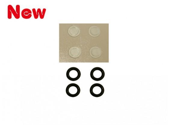 Gaui 100 & 200 Size O Ring Hardheid-90 en Paper wasmachine voor 3mm Main Rotor Spil (203848)