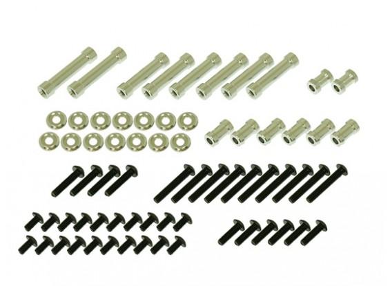 Gaui 425 & 550 H550 Spacer & Screw pack voor CF Frames