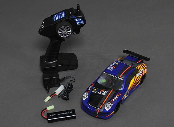18/01 Schaal 4WD RTR On-Road Drift Car (blauw)