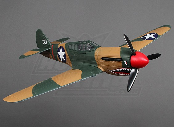 Micro P-40 super schaal w / stand (PNF)
