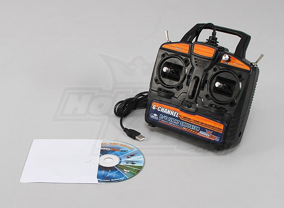 Hobbyking 6CH RC Flight Simulator System (Mode 2)