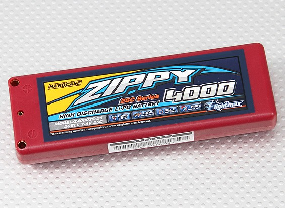 ZIPPY 4000mAh 2S1P 25C Car LiPoly (ROAR GOEDGEKEURD) (DE Warehouse)