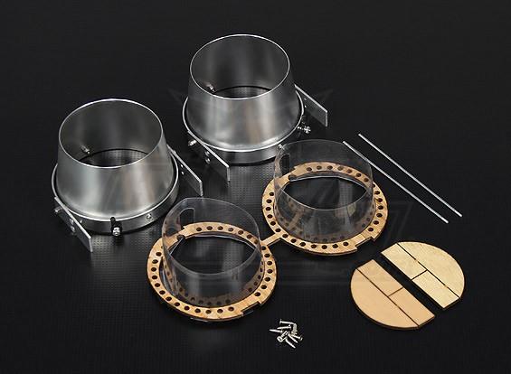 HobbyKing® Alloy Vector Thrust Conversion Kit voor 70mm EDF Jets (Twin)