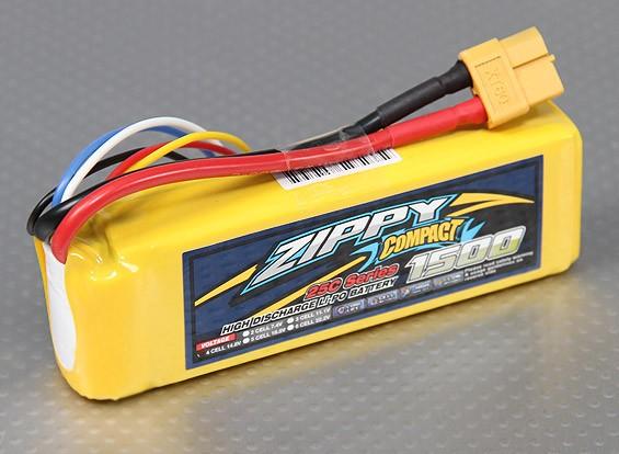 Pack ZIPPY Compact 1500mAh 4S 25C Lipo