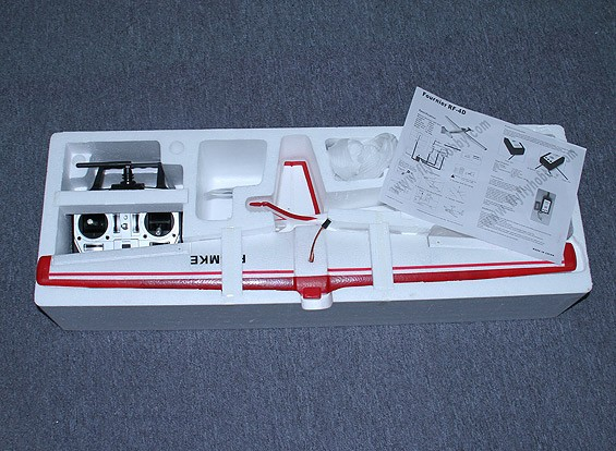 KRAS / DENT Micro Fournier RF-4D 800mm w / 2.4GHz TX / RX, lader en lipo (RTF - Mode 1)
