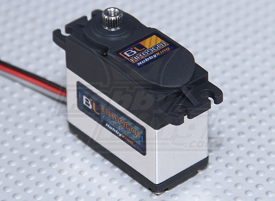 HobbyKing ™ BL-89601 Digital Brushless Servo HV / MG 6.0kg / 0.06sec / 56g