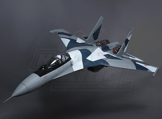 Sukhoi SU-35 Twin 70mm Super Scale EDF Jet w / stuwkrachtregeling 1080mm (PNF)