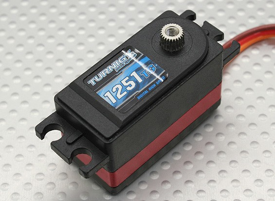 Turnigy ™ 1251TG Coreless Low Profile DS / MG Servo 8kg / 0,9 sec / 48g