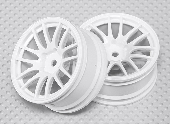 01:10 Scale Wheel Set (2 stuks) Witte Split 7-Spoke RC Car 26mm (3mm offset)