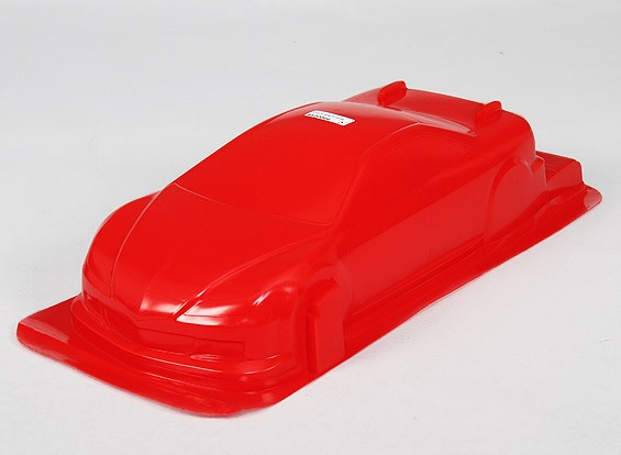 1/10 CR-6R Body Shell w / Decals (Rood)