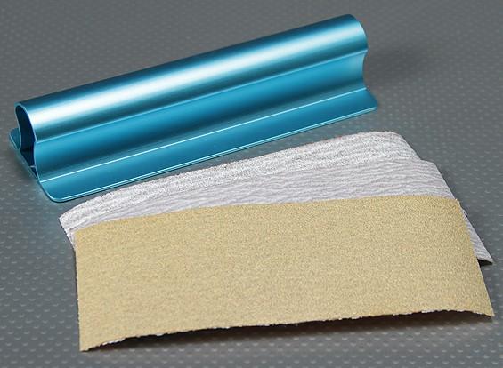 Heavy Duty Alloy 150mm Flat-oppervlak Hand Sander (blauw)