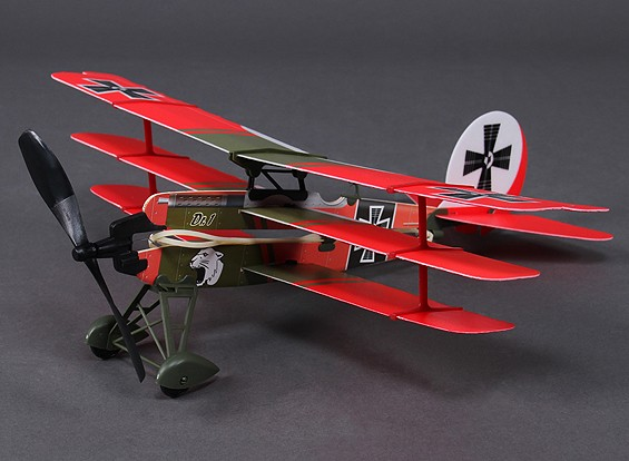 Rubber Band Powered Freeflight Dr-1 Model 437mm Span w / Electric Winder