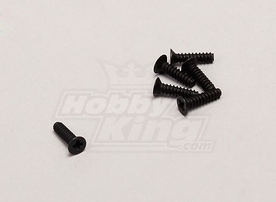 Verzonken Self-Tapping Schroef (2 * 8) - 1/18 4WD RTR On-Road Drift / Short Course (6 stuks)