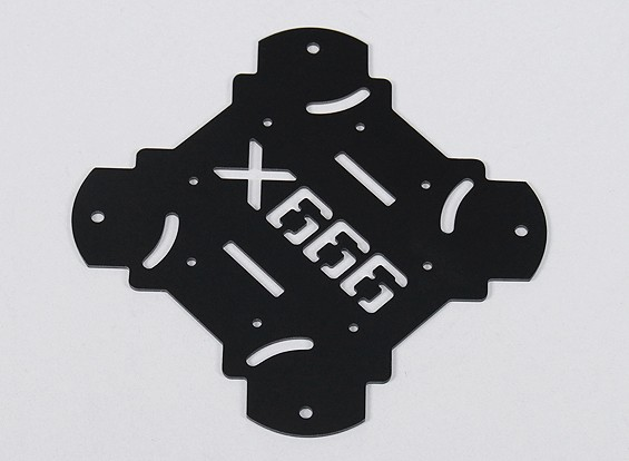 HobbyKing X666 Glasvezel Hoofdonderstel bodemplaat (1pc / bag)