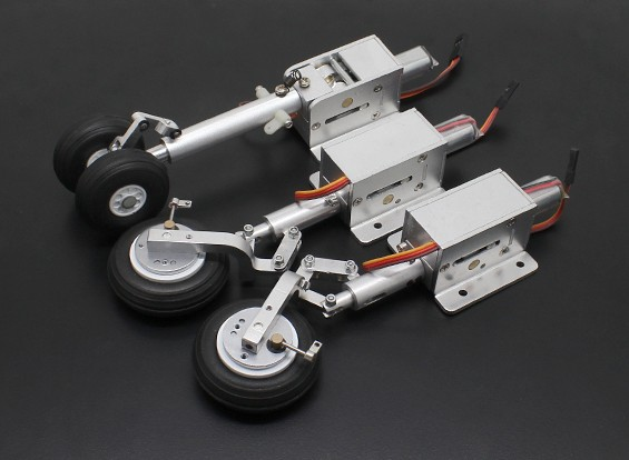 Turnigy Full Metal Servoless Retract met Oleo Benen en remsysteem (Suits 90mm T-45 en L-59)