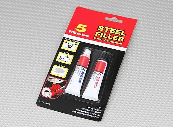 EV5 / 20G 5 Min Steel Filler Epoxy Glue