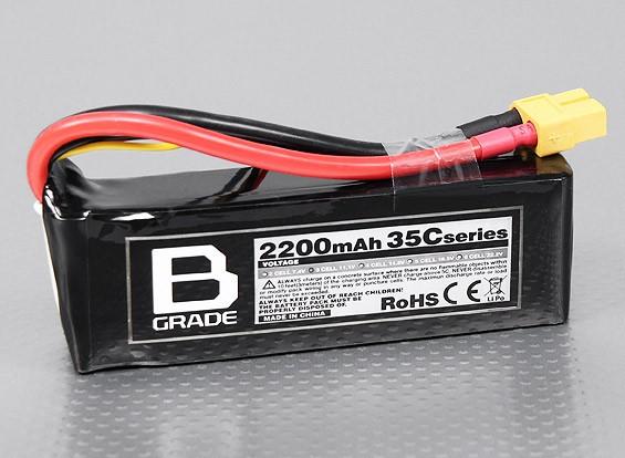 B-Grade 2200mAh 3S 35C LiPoly Battery