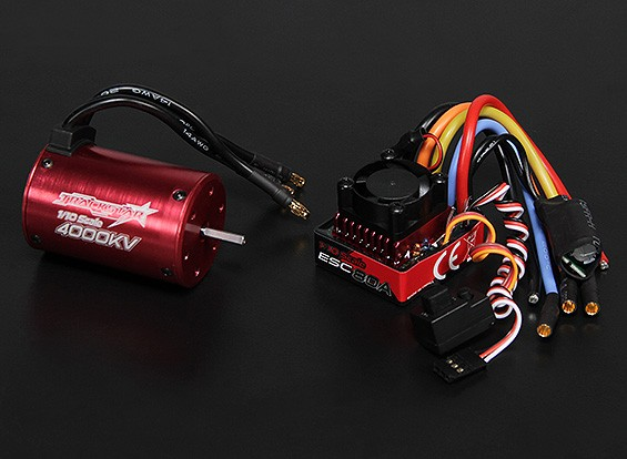 Turnigy TrackStar Waterproof 1/10 Brushless Power System 4000KV / 80A