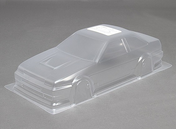 10/01 DR86 Unpainted Car Body Shell w / Decals