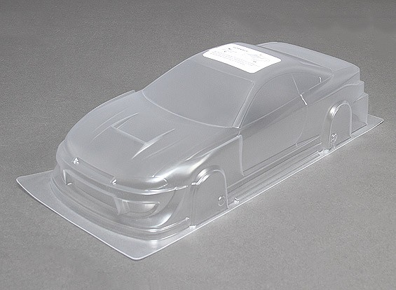 10/01 TY15 Unpainted Car Body Shell w / Decals