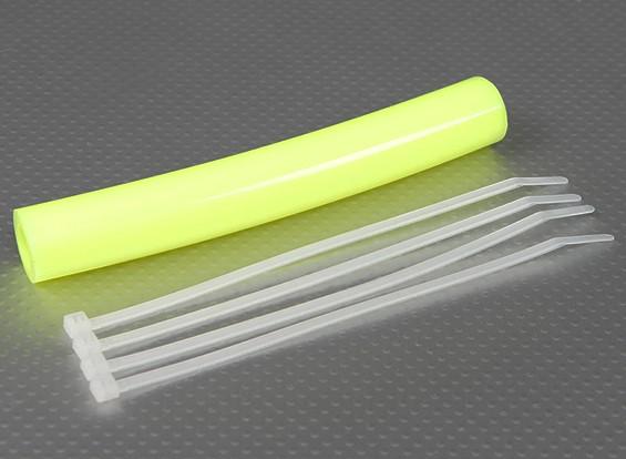 Silicone Uitlaat Koppeling Tubing 152x13.5mm (Geel)