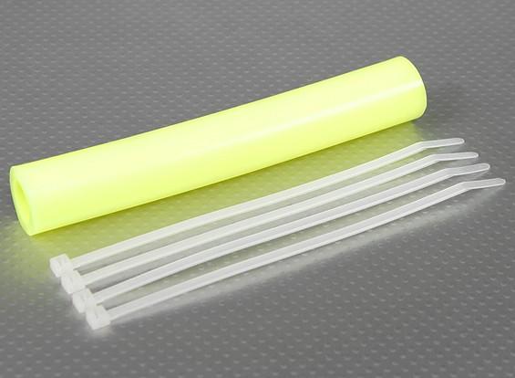 Silicone Uitlaat Koppeling Tubing 152x15mm (Geel)