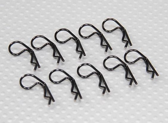 Small-ring 90 graden Body Clips (zwart) (10st)