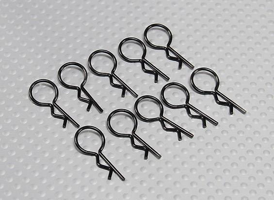 Medium-ring Body Clips (zwart) (10st)
