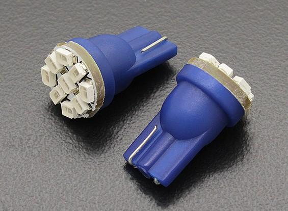 LED Corn Light 12V 1.35W (9 LED) - Blauw (2 stuks)