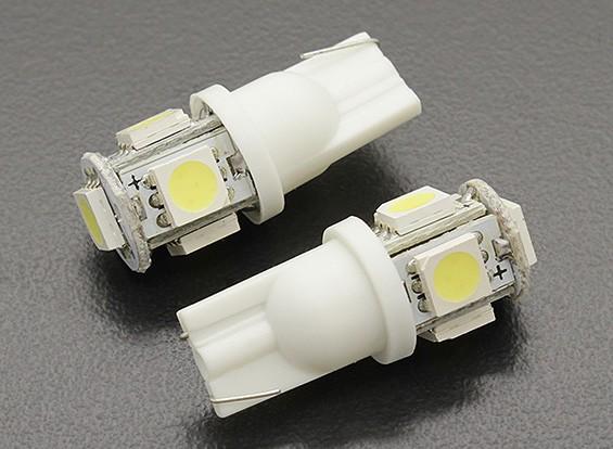 LED Corn Light 12V 1.0W (5 LED) - White (2 stuks)