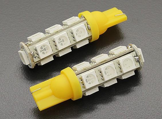 LED Corn Light 12V 2.6W (13 LED) - Geel (2 stuks)