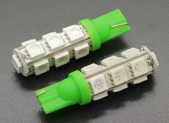 LED Corn Light 12V 2.6W (13 LED) - Groen (2 stuks)