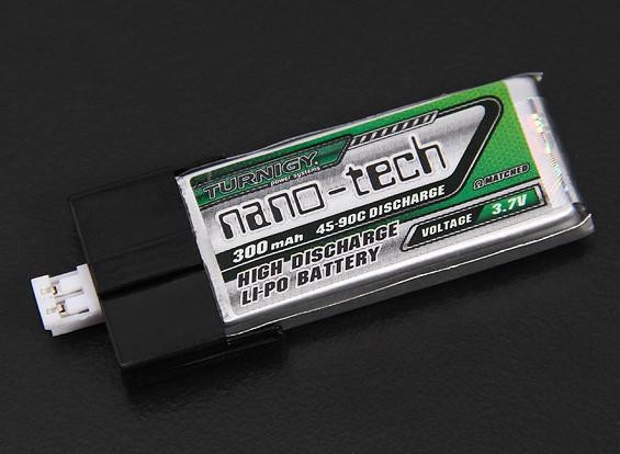 Turnigy nano-tech 300mAh 1S Pack Lipo 45C (Suits FBL100 en Blade MCPX)
