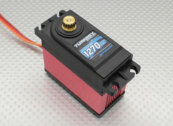 Turnigy ™ TGY-1270HV kogellager DS / MG Servo w / Heat Sink 40kg / 0.18sec / 170g
