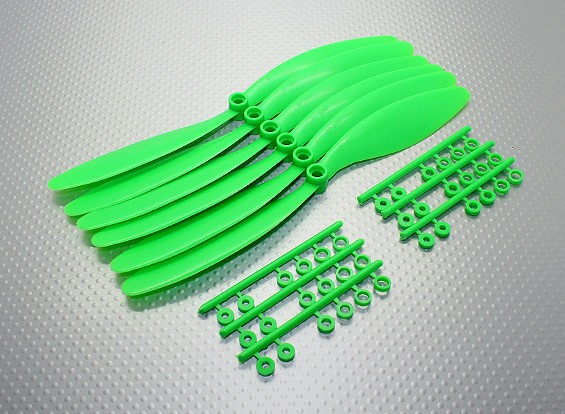 GWS EP Propeller (RD-8060 203x152mm) groen (6pcs / set)