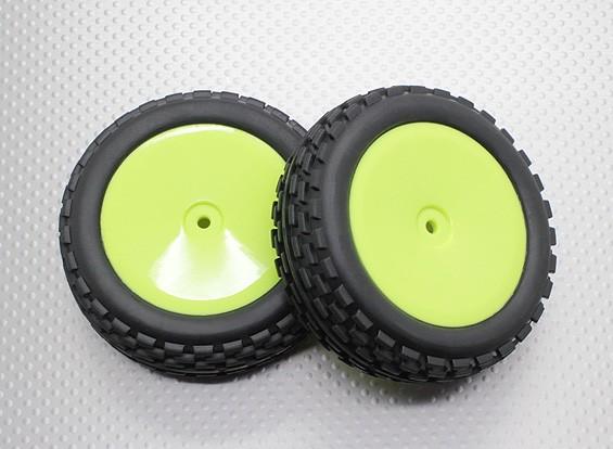Voorzijde Buggy Tyre Set 2sets (Dish rim) - 1/10 Quanum Vandal 4WD Racing Buggy (2 stuks)