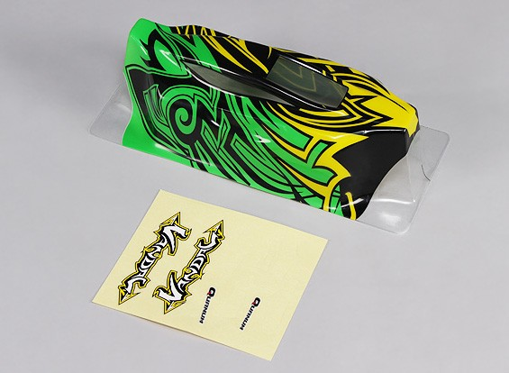 Body (Painted) w / Decal - 1/10 Quanum Vandal 4WD Racing Buggy