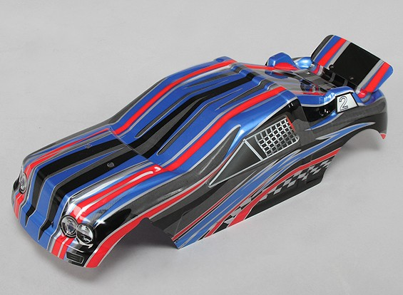 Pre-Painted Body Shell w / Decals 1/10 Turnigy Stadium Koning 2WD Truggy
