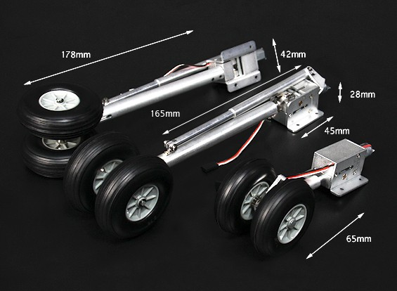Turnigy Full Metal Servoless Scale Airliner Zet vrij w / Oleo Legs (1.20 Class Q400)