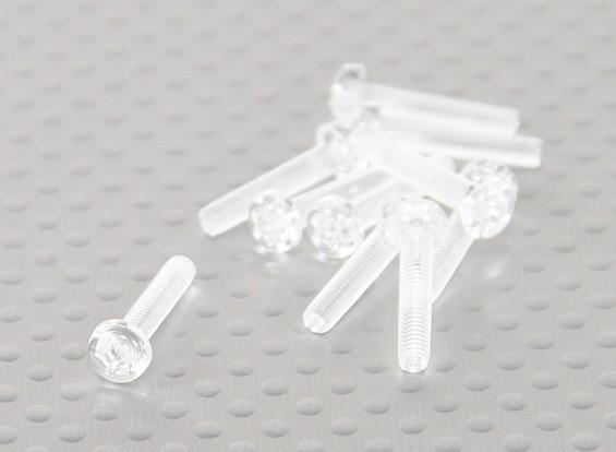 Doorzichtig polycarbonaat schroeven M3x15mm - 10st / bag