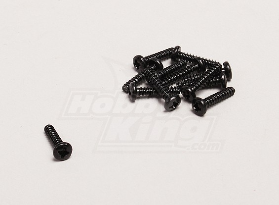Self Tapping 3x14mm Cross Schroef (12st / zak) - Turnigy Trailblazer 1/8