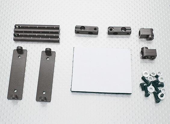 10/01 Car Aluminium CNC Body Shell Montage Set (Titanium)